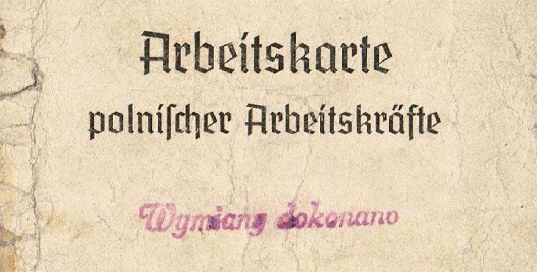 German WW2 Arbeitskarte for Polish Worker, 1943 - 5