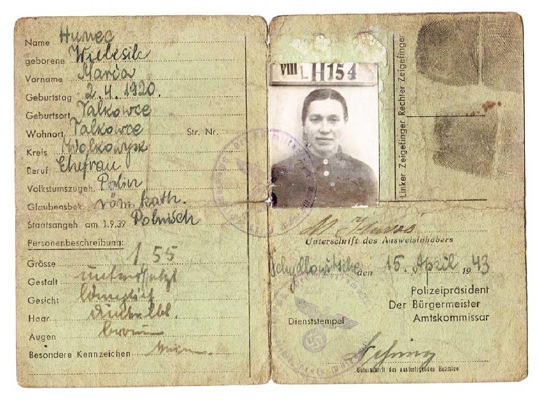 German WW2 Document Personal Ausweis ID, 1943