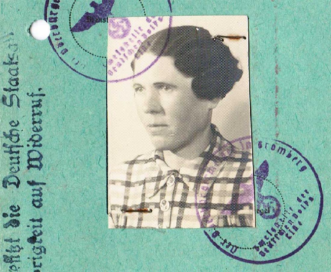 WW2 Polish ID Document fr. German Occupied, 1943