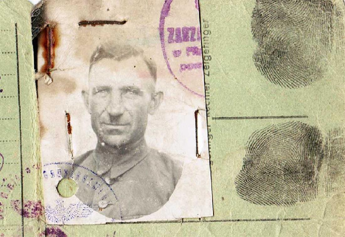 German WW2 Ausweis ID for Polish Worker, 1943
