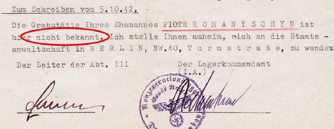 Extremely Rare German WW2 Rotes Kreuz Document fr. KL - 4