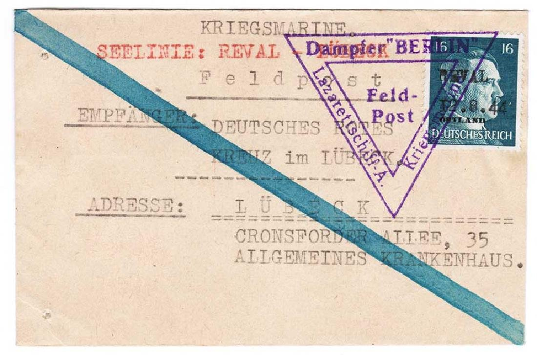 Extremely Rare German WW2 Post, Lazarettschift Berlin,