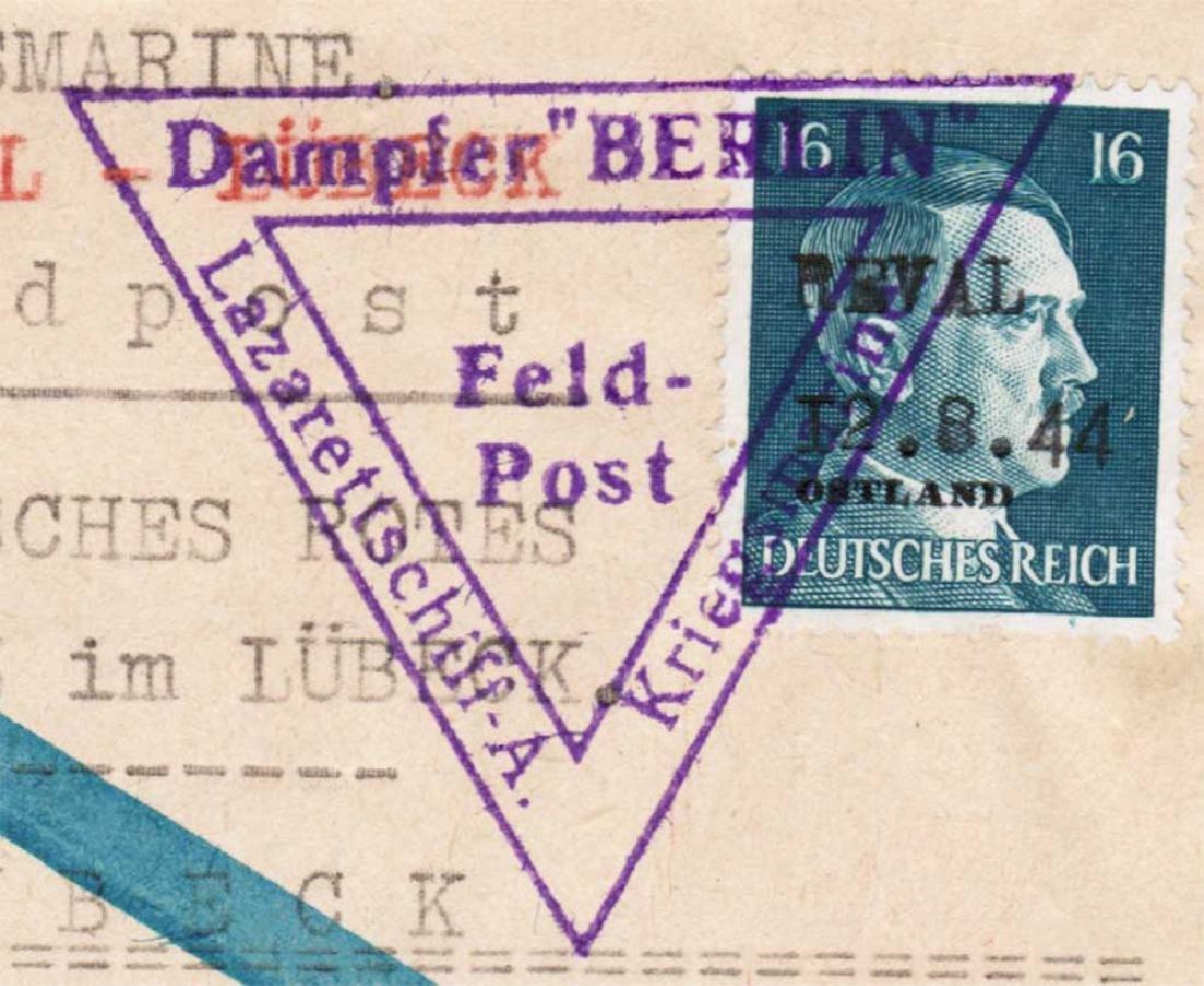 Extremely Rare German WW2 Post, Lazarettschift Berlin, - 3