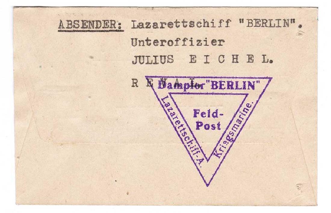 Extremely Rare German WW2 Post, Lazarettschift Berlin, - 5