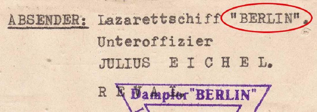 Extremely Rare German WW2 Post, Lazarettschift Berlin, - 6