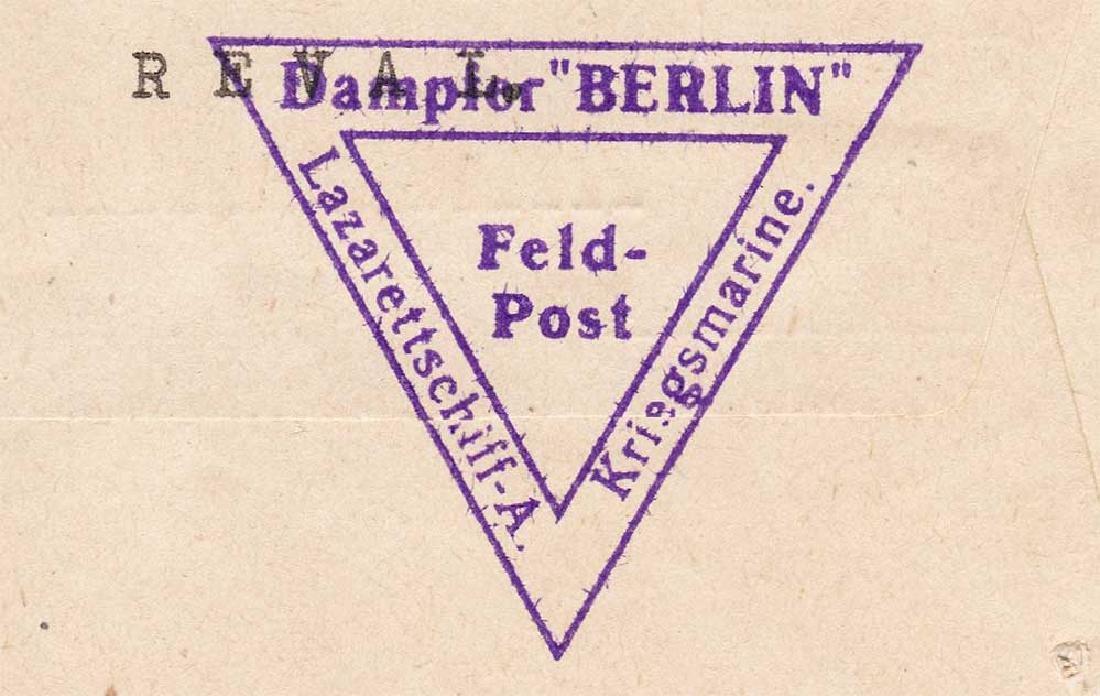 Extremely Rare German WW2 Post, Lazarettschift Berlin, - 7