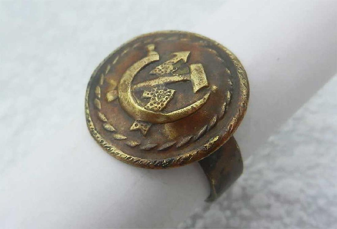 Original Russian WW2 Ring with Soviet Coat of Arms