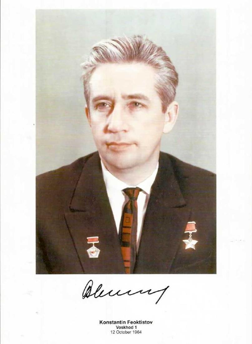 Signed Photo Soviet Cosmonaut Konstantin Feoktistov,