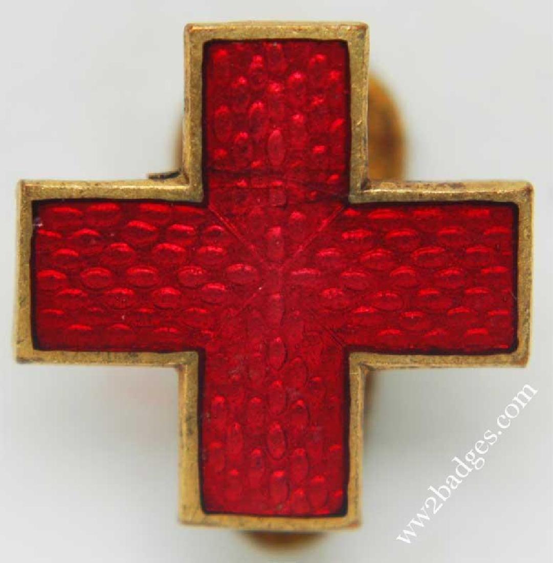 Original Russian Imperial Badge Red Cross for Men