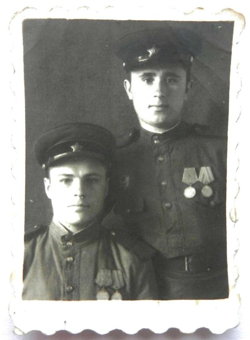 Soviet Russian WW2 Photo of Soldiers w. Medals, 1946