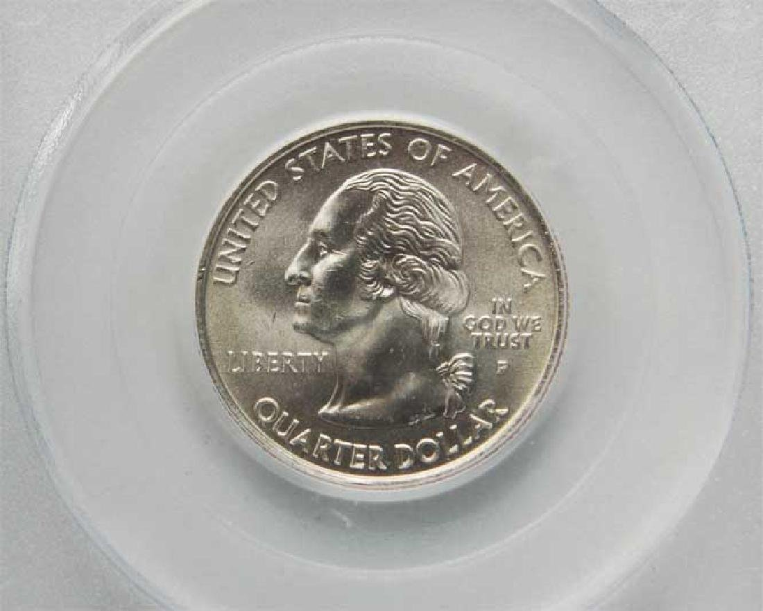 Rare Original USA 25 cents slabed, 2004, certified - 2