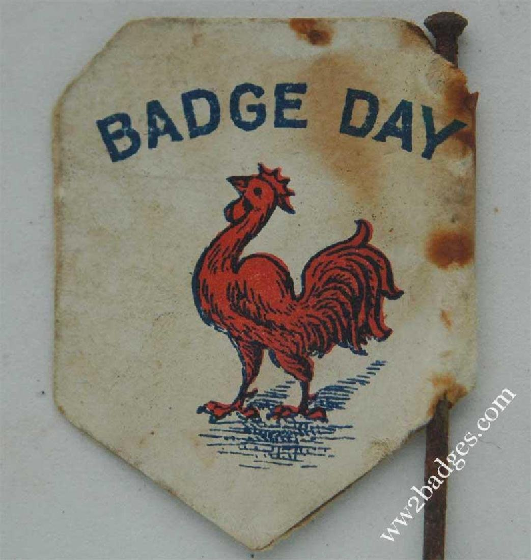 Flag Day Pin Badge: French Wounded Soldiers Fund FRANCE