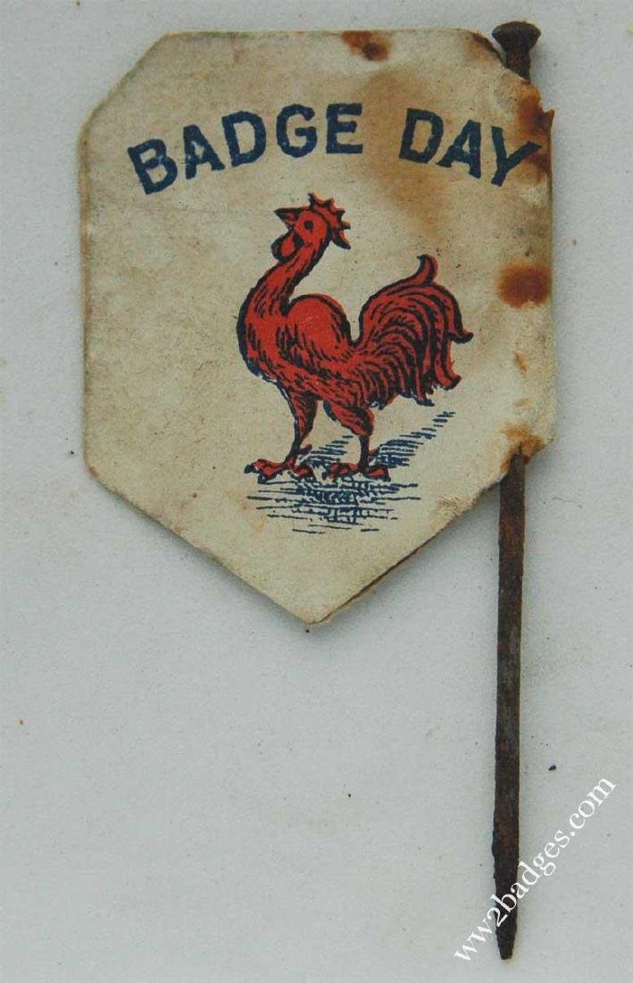 Flag Day Pin Badge: French Wounded Soldiers Fund FRANCE - 3