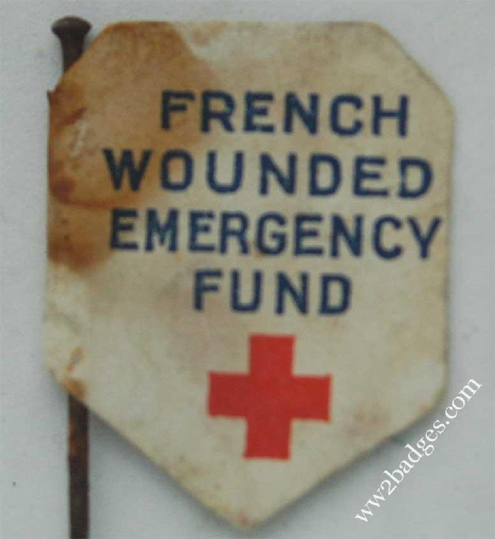 Flag Day Pin Badge: French Wounded Soldiers Fund FRANCE - 4