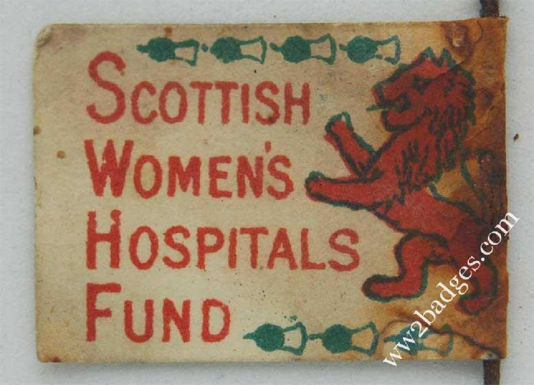 Flag Day Pin Badge: Scottish Women Hospital Fun