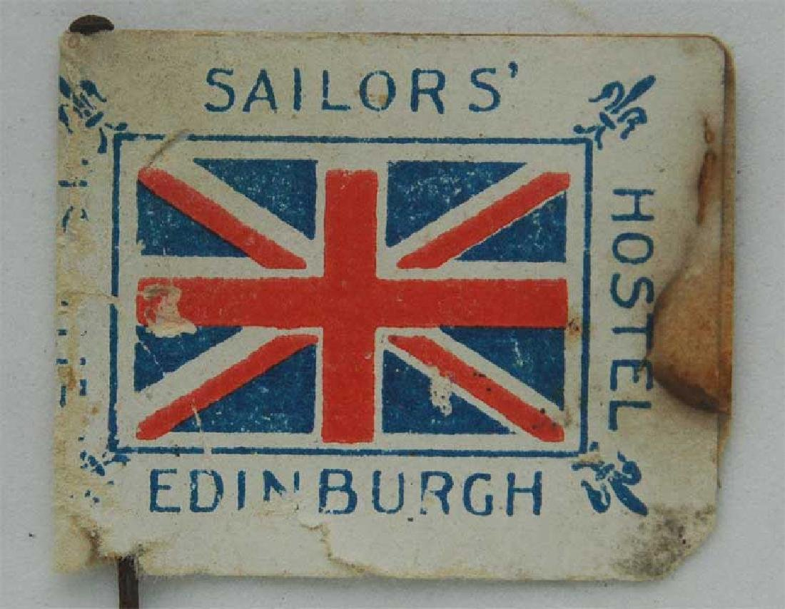 Flag Day Pin Badge: British Sailors Hospital  -
