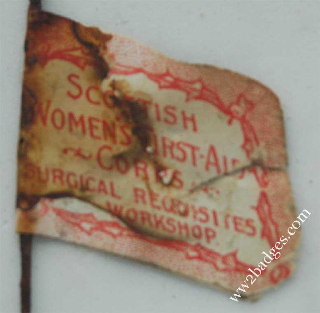 Flag Day Pin Badge: Scottish Women's First Aid Corps - 3