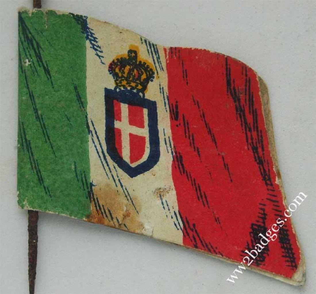 Flag Day Pin Badge: Italian Army Flag Allies War Effort - 2