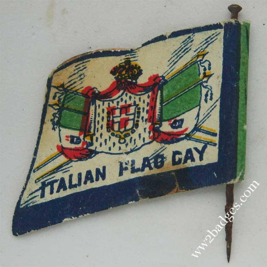 Flag Day Pin Badge: Italian Army Flag Allies War Effort - 3