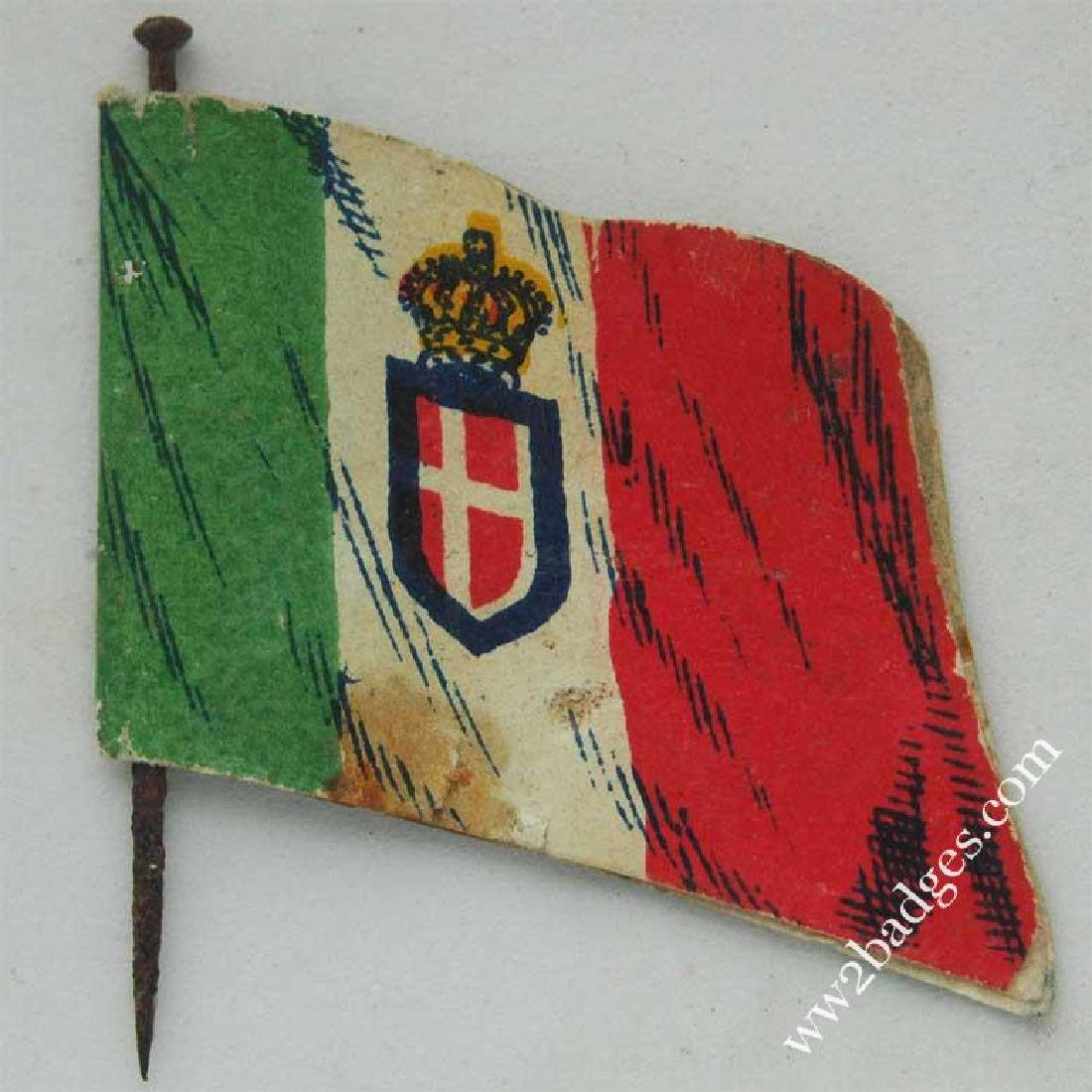 Flag Day Pin Badge: Italian Army Flag Allies War Effort - 4