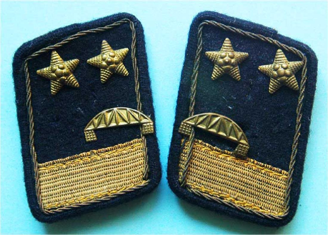Russian WW2 Construction TROOPS OFFICERS COLLAR TABS