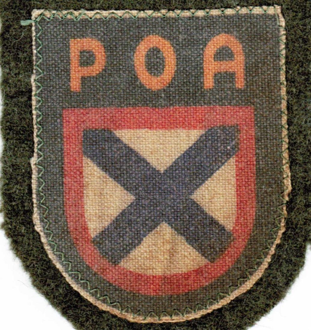 GERMAN WWII PATCH FOR RUSSIAN VOLUNTEERS, ROA - 2