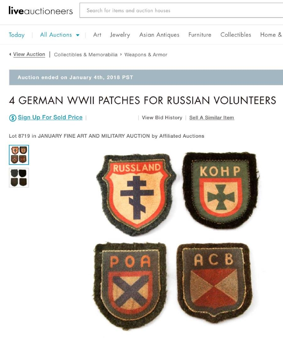 GERMAN WWII PATCH FOR RUSSIAN VOLUNTEERS, ROA - 4