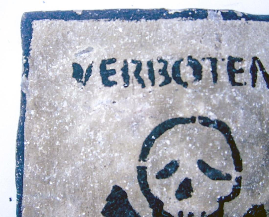 Original German WW2 Sign VERBOTENER EINGANG - 2