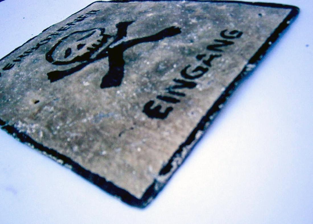 Original German WW2 Sign VERBOTENER EINGANG - 7