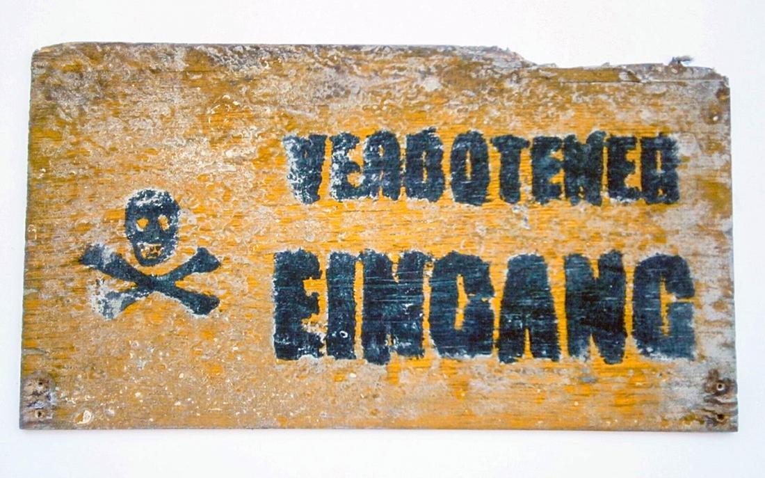 Original German WW2 Sign VERBOTENER EINGANG