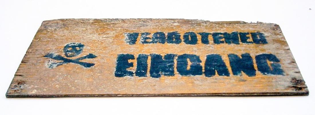 Original German WW2 Sign VERBOTENER EINGANG - 3
