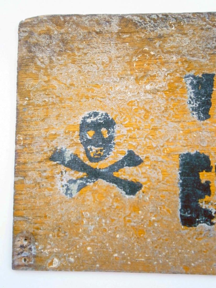 Original German WW2 Sign VERBOTENER EINGANG - 4
