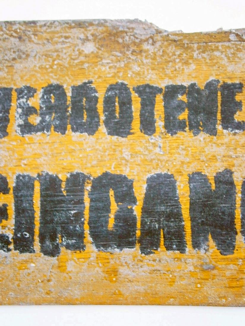 Original German WW2 Sign VERBOTENER EINGANG - 5