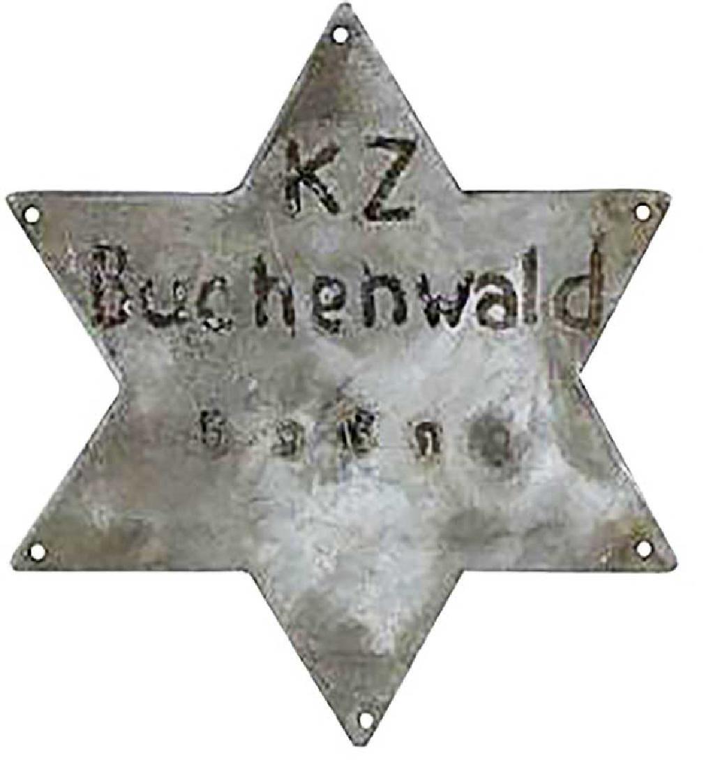 Original German WW2 Star of David fr. BUCHENWALD