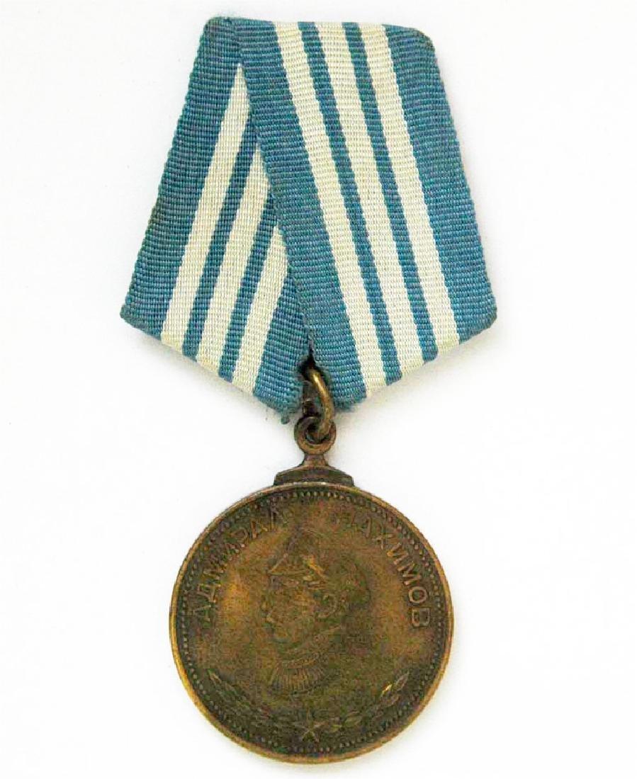Rare Russian USSR Nakhimov Medal, 1940 - 1944