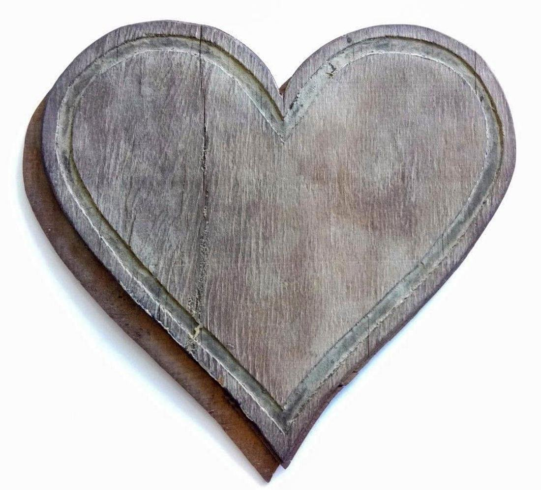 Jewish WW2 WOOD Carving Heart fr. Litzmannstadt