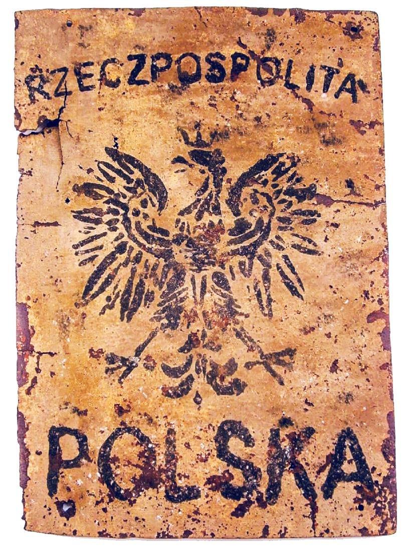 Polish WW2 Sign w. COAT of ARMS fr. Armia Krajowa