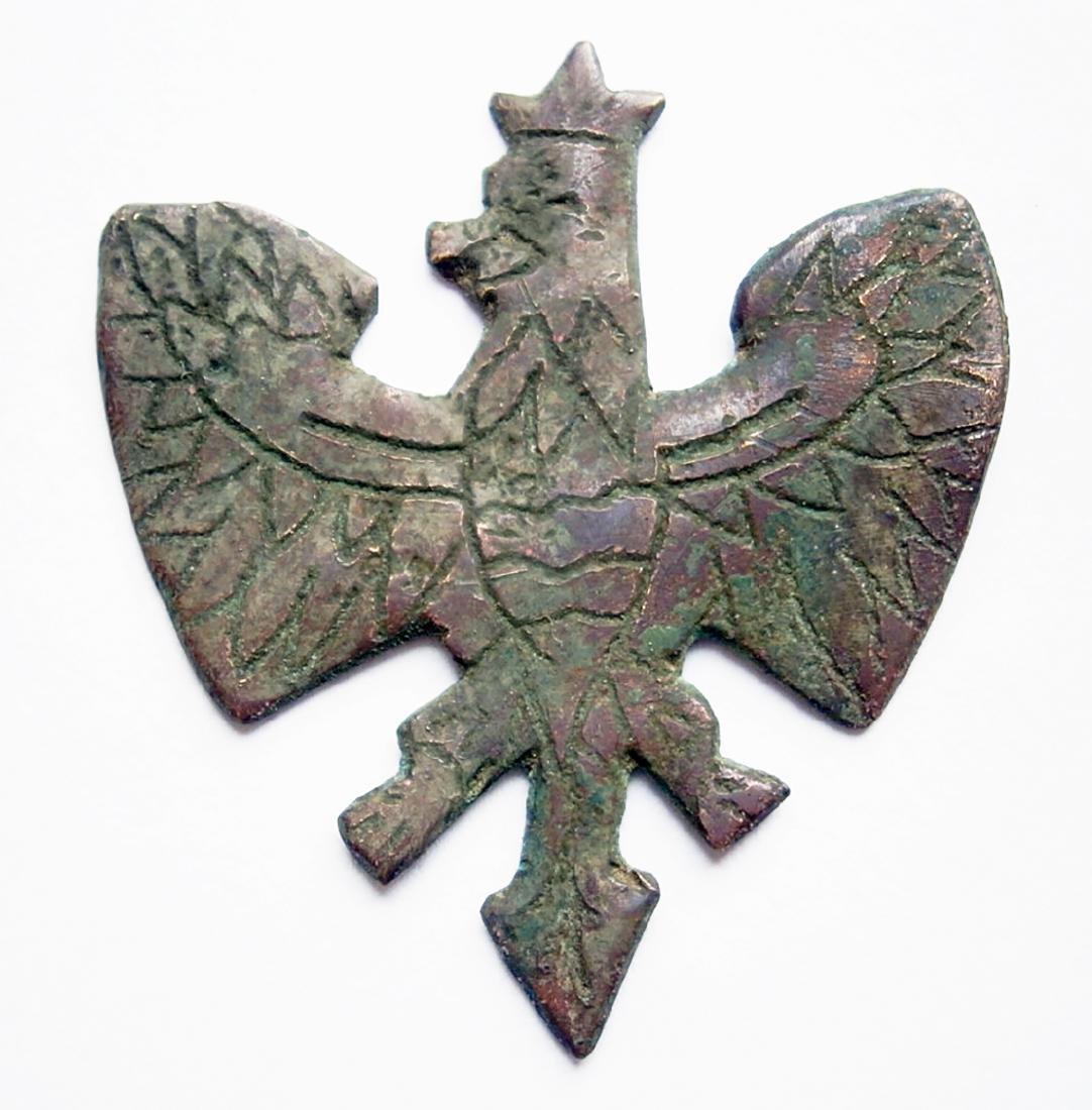 Polish WW2 WHITE Eagle COAT of ARMS fr. Armia Krajowa