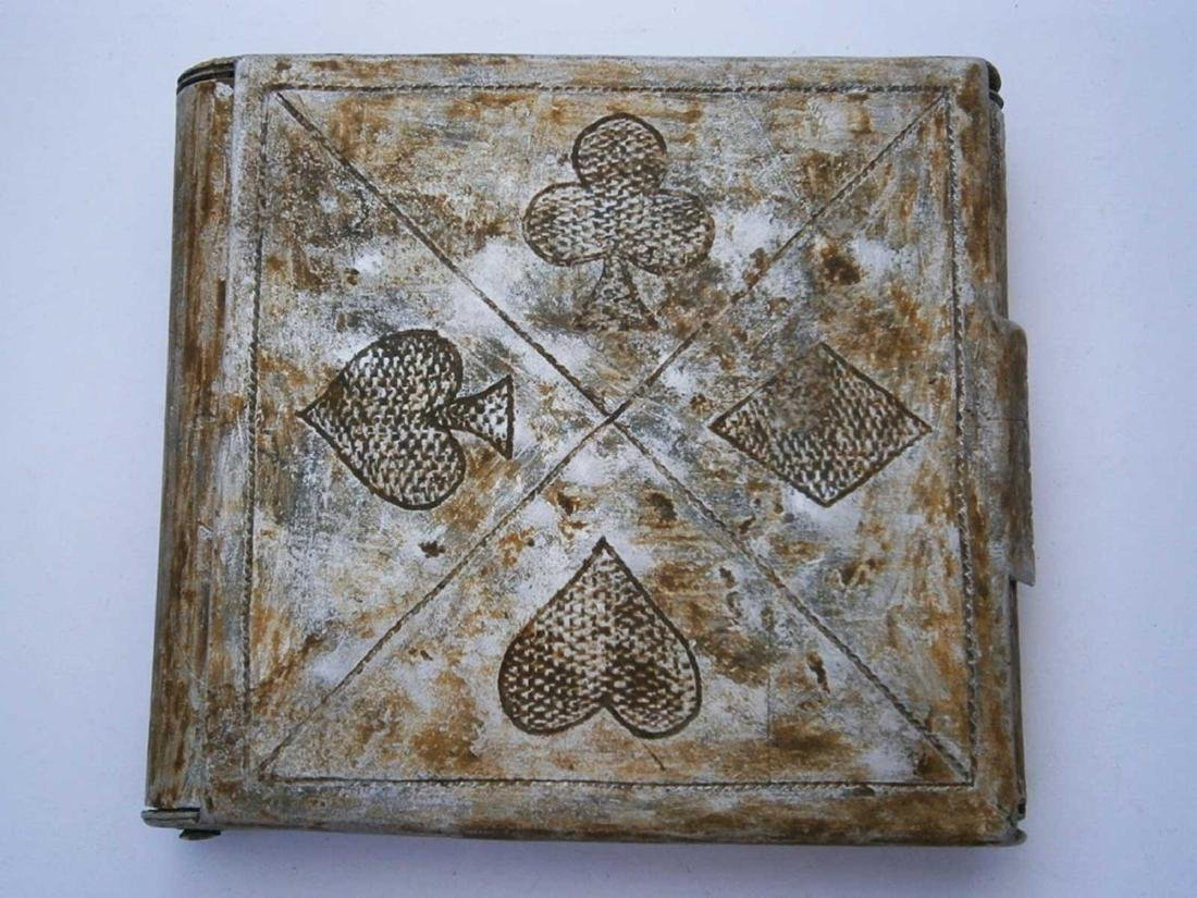 Russian WW2 CIGARETTE CASE as Playing cards, 1941 -