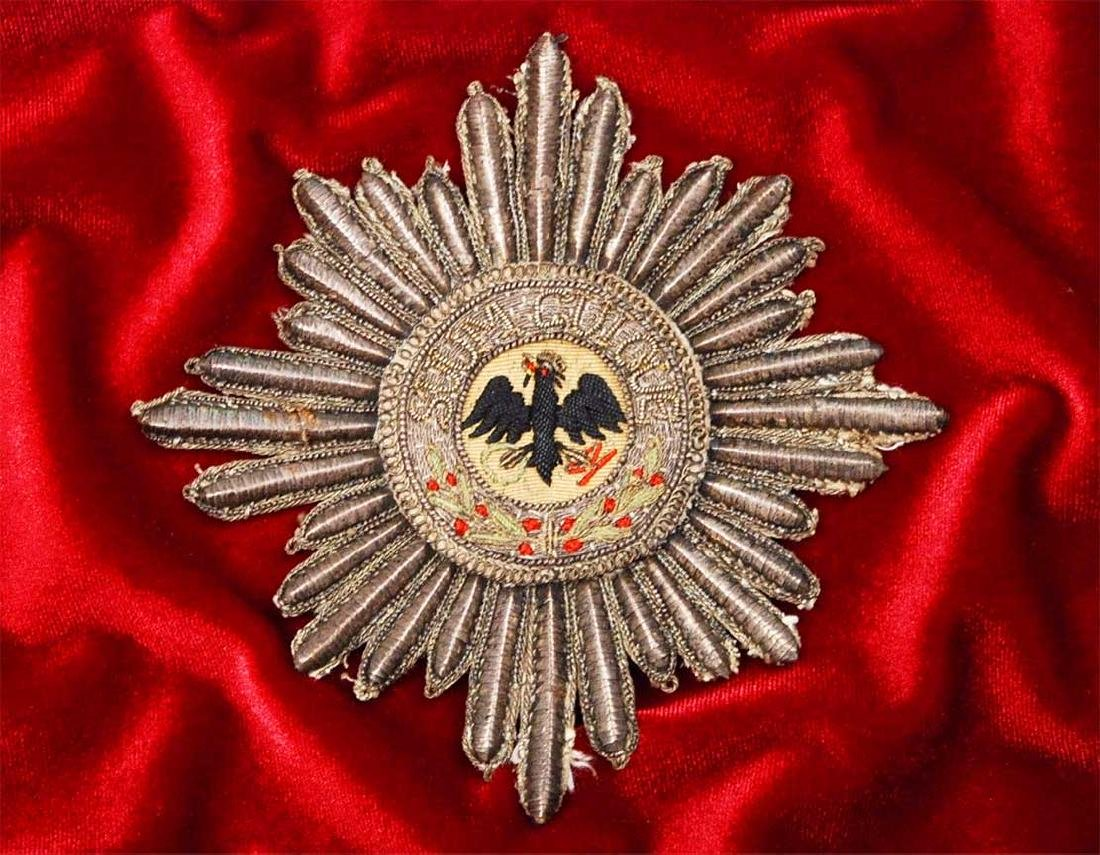 ORDER OF THE BLACK EAGLE CLOTH BADGE fr. Museum