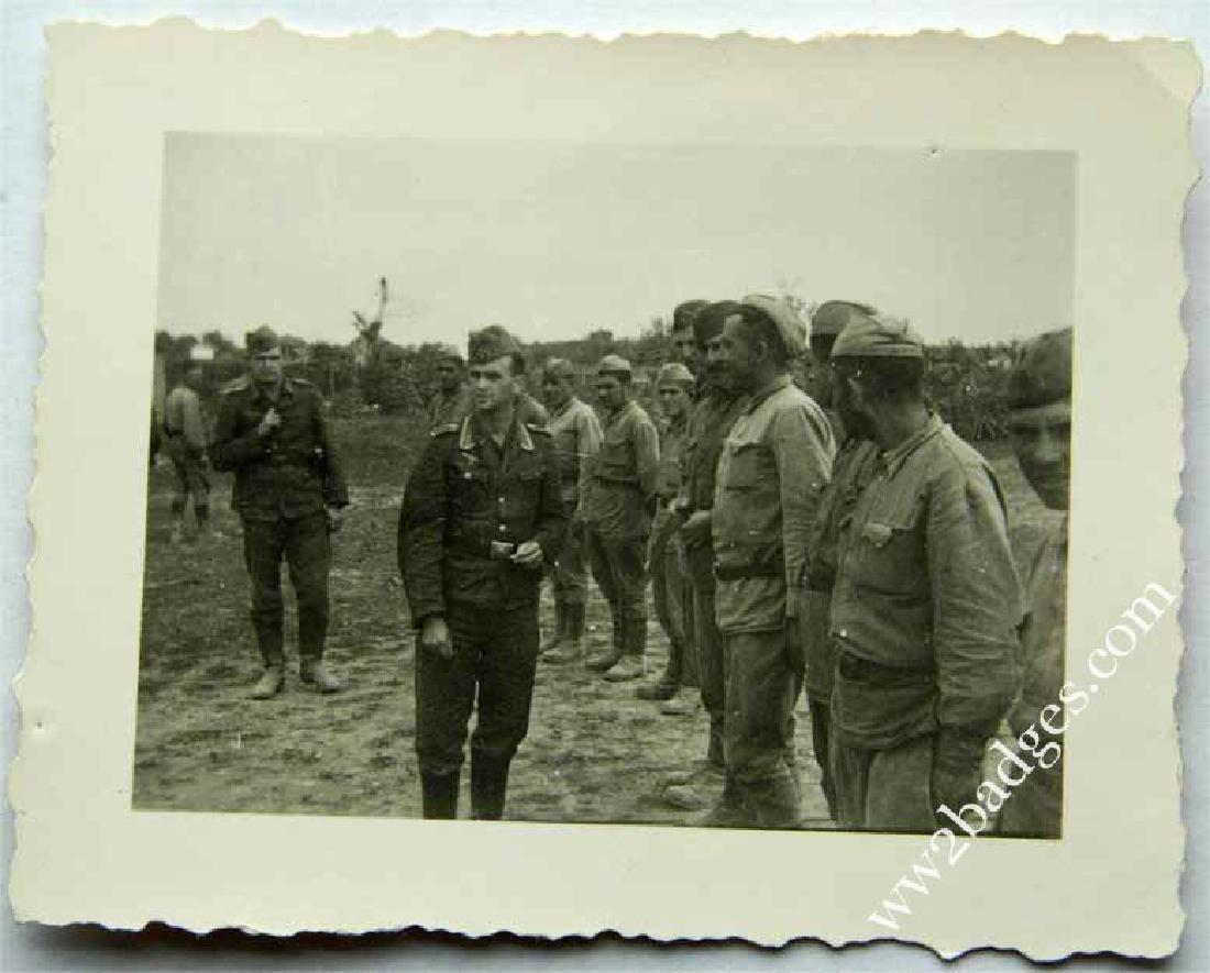 REAL PHOTO of GEORGIAN Russian VOLUNTEERS, 1941