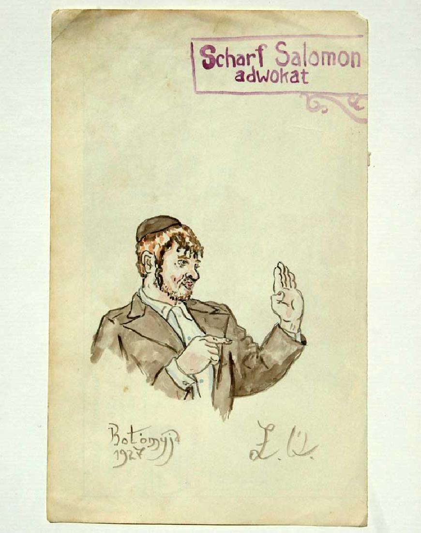 Rare Picture of Jewish Motive, 1927 Kolomyja