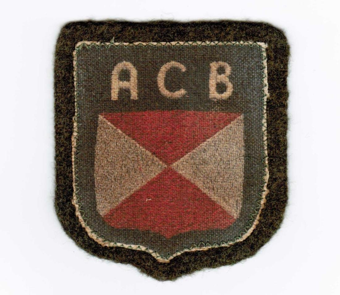 GERMAN WWII PATCH FOR RUSSIAN VOLUNTEERS, ACB