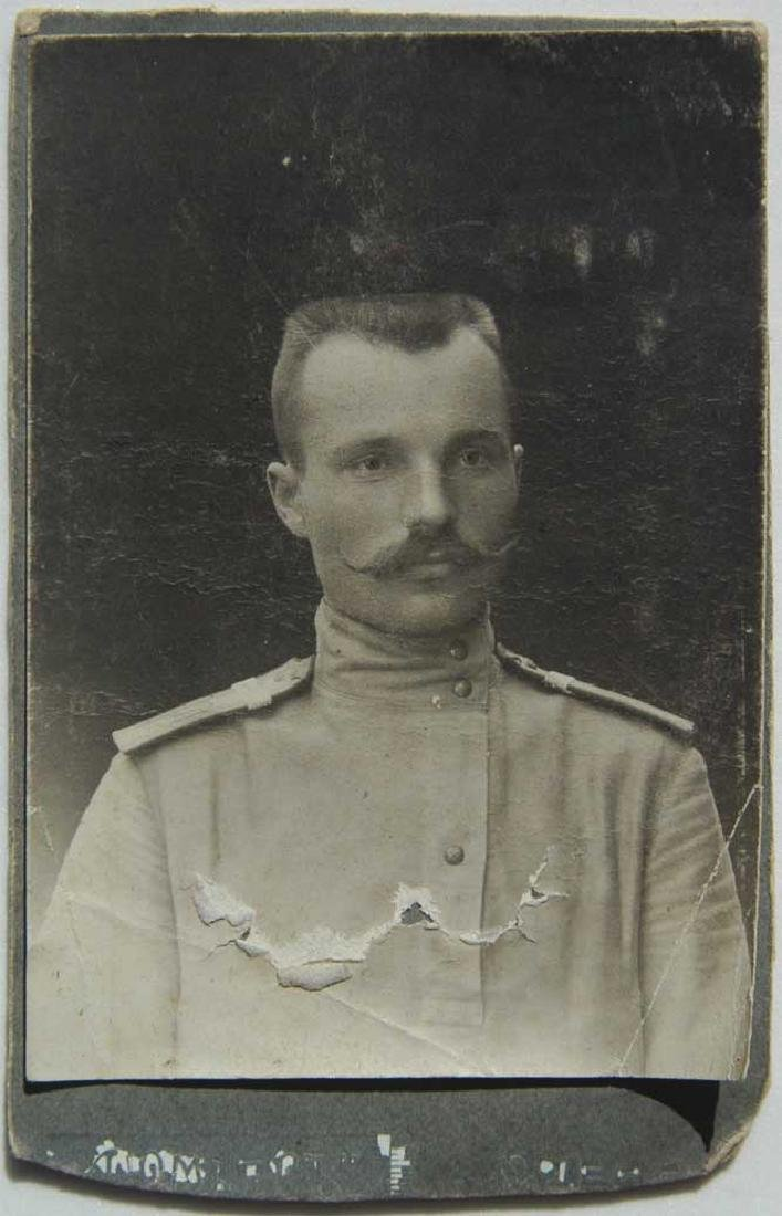 Russian Imperial military photo, uniform, Odessa 1909