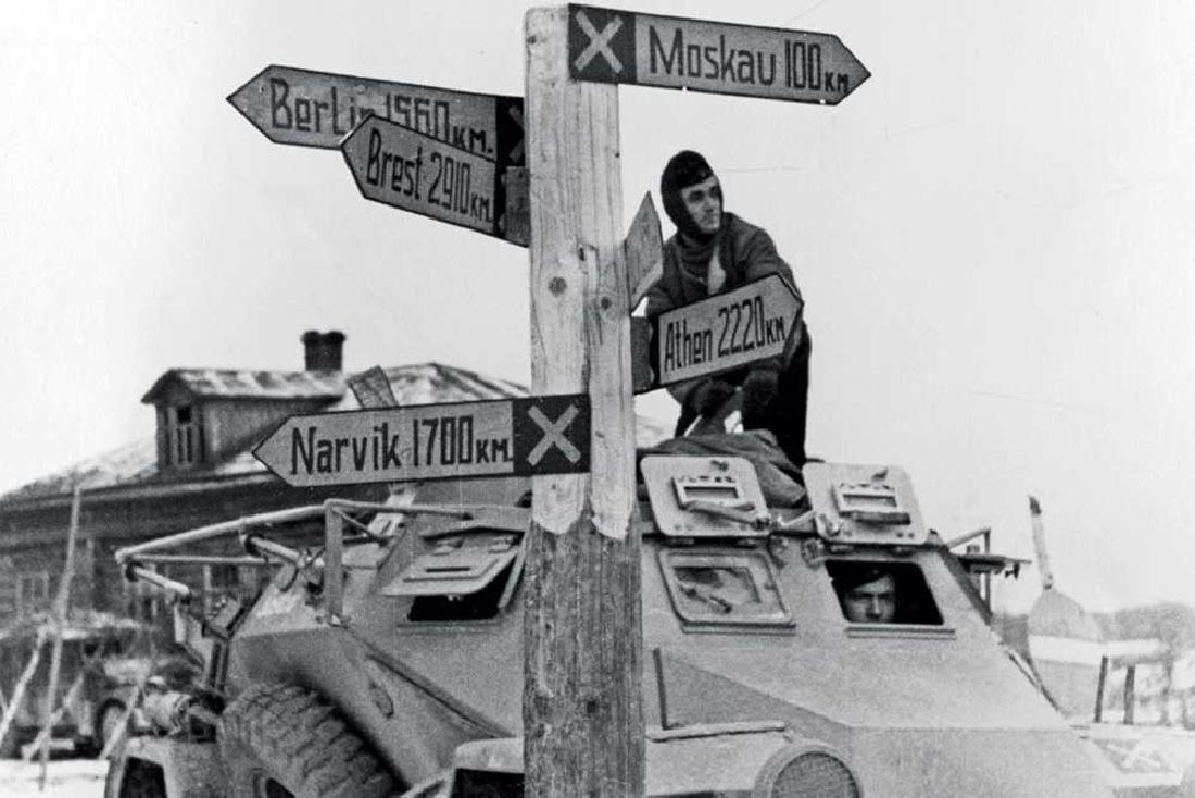 Extremely Rare German WW2 Sign NACH MOSKAU, 1941 - 10