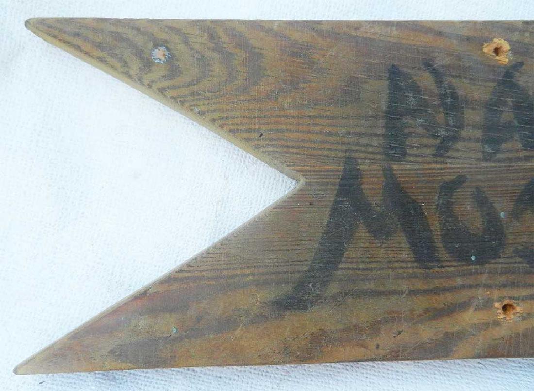 Extremely Rare German WW2 Sign NACH MOSKAU, 1941 - 6