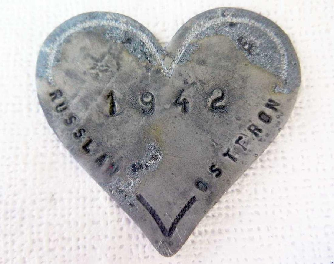 Unusual German WW2 Heart - With Love From RUSSIA, 1942