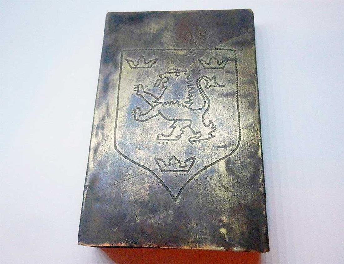 German - Ukrainian WW2 Cigarette Case, 14th Waffen SS