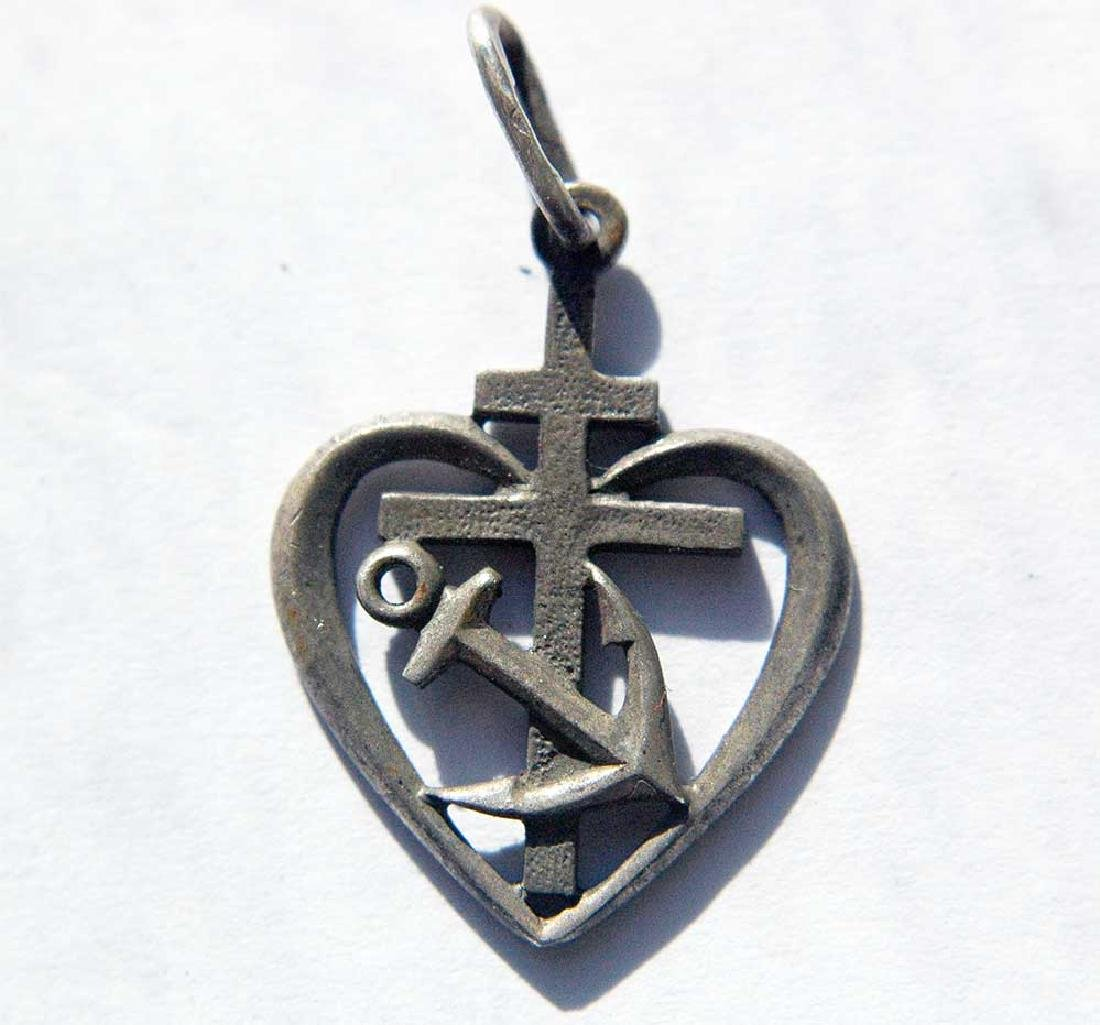 Russian CCCP Navy Silver Pendant, marked 925