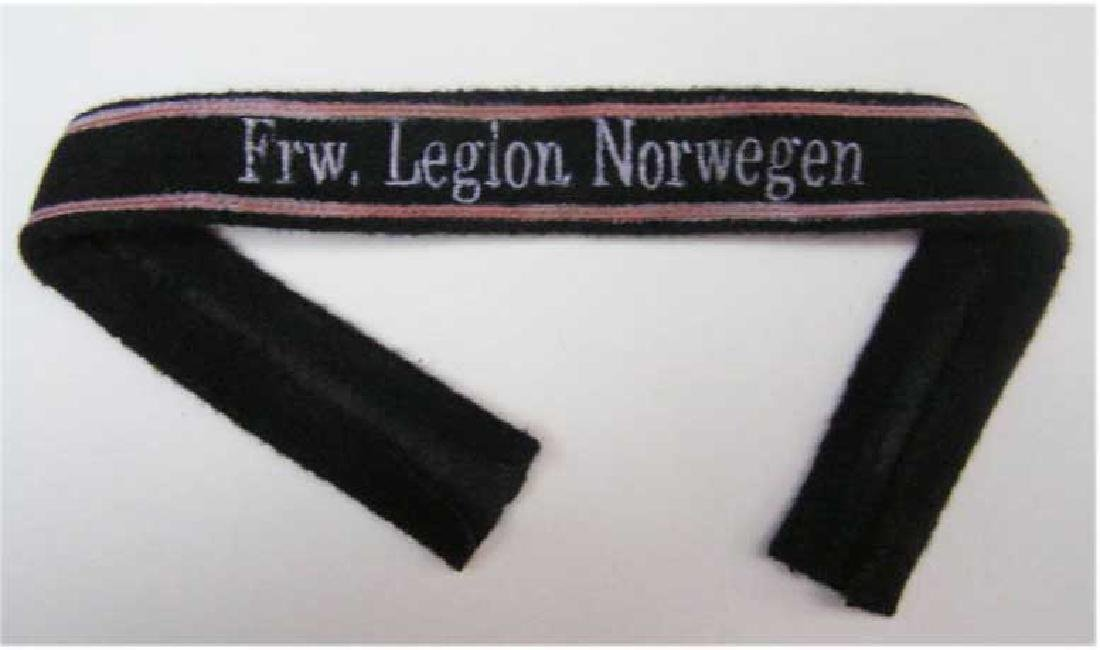 German WW2 Cuff Title for Norwegian Volunteer, 1940 -